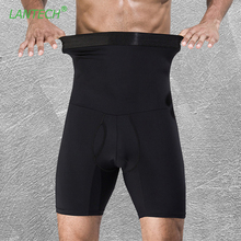 LANTECH Heren Compressie Shorts Maag shapers Bodybuilding Strakke Ondergoed Boxers Running Box Oefening Fitness Gym Shorts