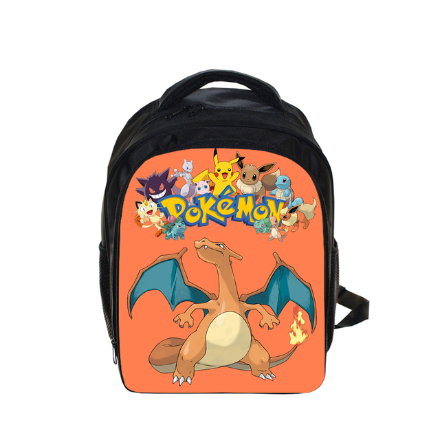e6cb8a133823 13 Inch Pokemon Charizard Printing Backpack Kids School Bags Boys  Kindergarten Backpacks Children Backpack Schoolbags Best