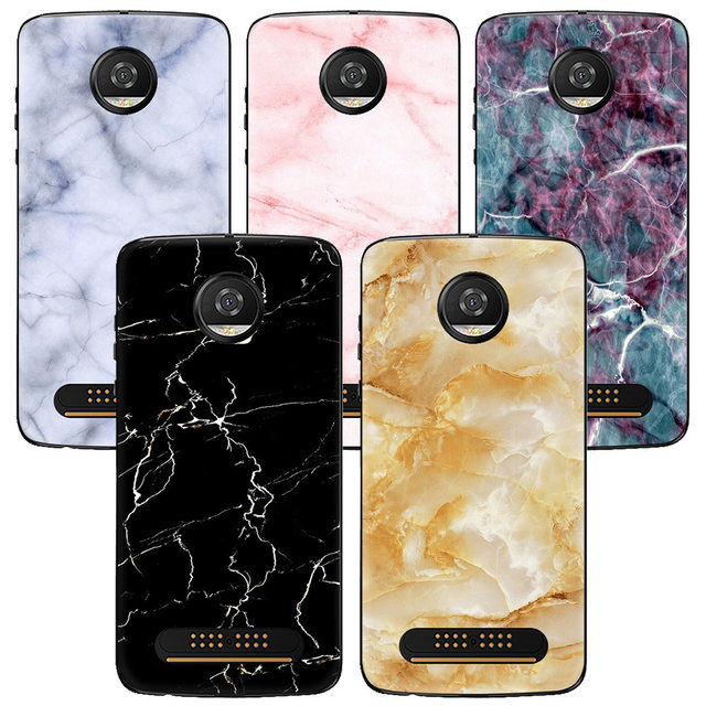 low priced 0c10e f6084 US $1.29 35% OFF|Granite Marble Texture Phone Case for Motorola G5 G5S C  Plus E5 Play Moto Z2 Play X4 C case Soft Silicone Back Cover Colorful-in ...