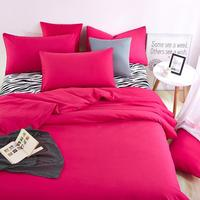 UNIKEA . . Bedding Sets Summer Home Zebra Bed Sheet and Rose Red Duver Quilt Cover Pillowcase Soft and Comfortable King Queen Fu