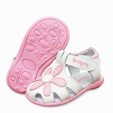 Горячая Распродажа, 1 пара ортопедических сандалий из натуральной кожи с цветами, сандалии для девочек наивысшего качества, детская обувь, детские сандалии