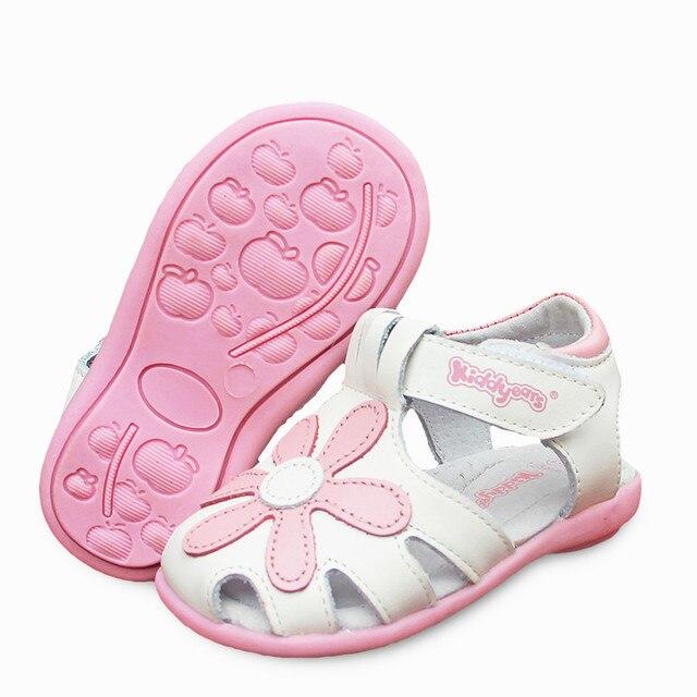 8f8918563 HOT Sale 1pair Flower Orthopedic Genuine Leather Sandals