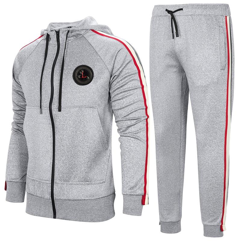 TFETTERS Men Tracksuits Solid Sportswear EU Size 2019 Autumn Men's Jacket + Pants Tracksuit Male Sweatshirt Casual 2 Piece Set