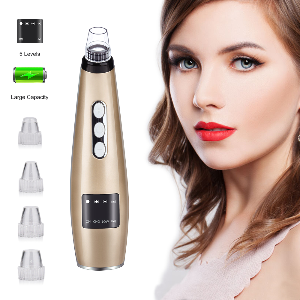 Blackhead Remover Face Clean Pore Vacuum Acne Pimple Removal Vacuum Suction Tool Beauty Machine Facial Diamond Dermabrasion