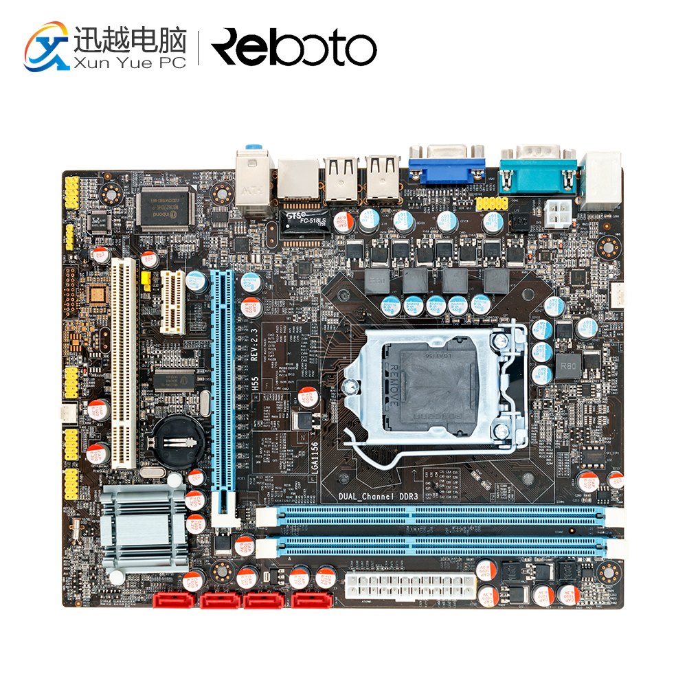 100% OEM New H55 Desktop Motherboard H55 LGA 1156 DDR3 16G For i3 i5 i7 All-Solid Micro-ATX On Sale free shipping original motherboard for biostar h55a lga 1156 ddr3 ram 16g boards h55 atx desktop 4 ddr3 dimm motherboard