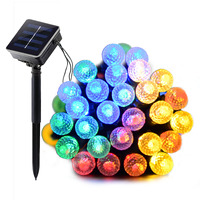 Dcoo Solar LED String Lights 8 Modes 50 LEDs Ball Outdoor Lighting Garden Party Holiday Wedding