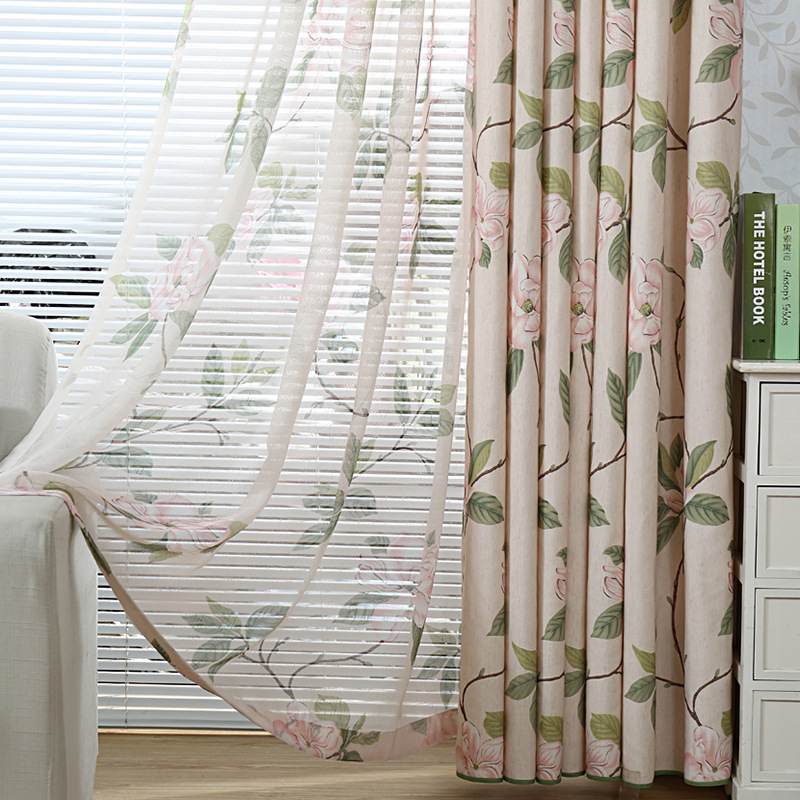MICHLIA design washable curtain fabrics beautiful sheer panel ...