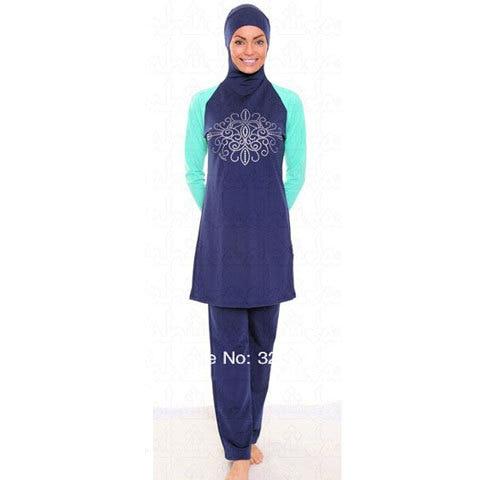 Make Difference Brand Solid Black Modest Arab Islamic Swimwear Women Girls Full Covered 2 Pieces Hijab Muslim Swimsuit Burkinis