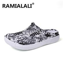 Ramialali/мужские модные сандалии летние мужские шлепанцы пляжные Повседневные Дышащие домашние тапочки сетчатая Мужская обувь Шлепанцы Zapatos