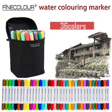 Finecolour Water Based Colored Markers 12 24 36 Set Washable Pens Watercolor Manga Sketch Marker Double