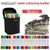 finecolour watercolor twin marker sets art graphic 12 24 36 colors dual tip water piston writing aquarel fine markers for artist