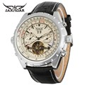 Photochromic Glass Silver Skeleton Dial Stainless Steel Bracelet Band Automatic Winding Mechanical Wrist Men's Watch