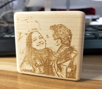 Personalized Music Box Wind Up Crank Melody Wooden Engraved Photo Love Gift
