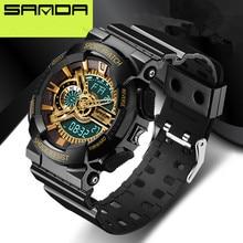 2016 nuevo anuncio moda reloj reloj de los hombres a prueba de agua deporte estilo militar G S Choque relojes hombres luxury brand Relogio Masculino