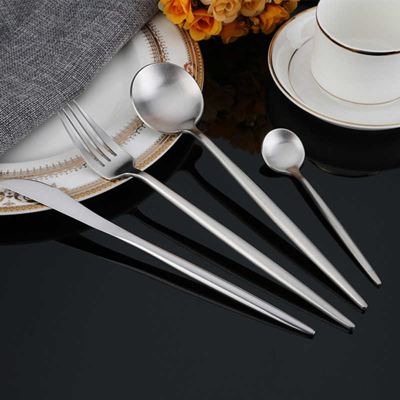 ... Hoomall Stainless Steel Silverware Cutlery Dinner Set Dinnerware Kitchen Home Restraunt Party Tableware Set Gifts Dropshiping ...