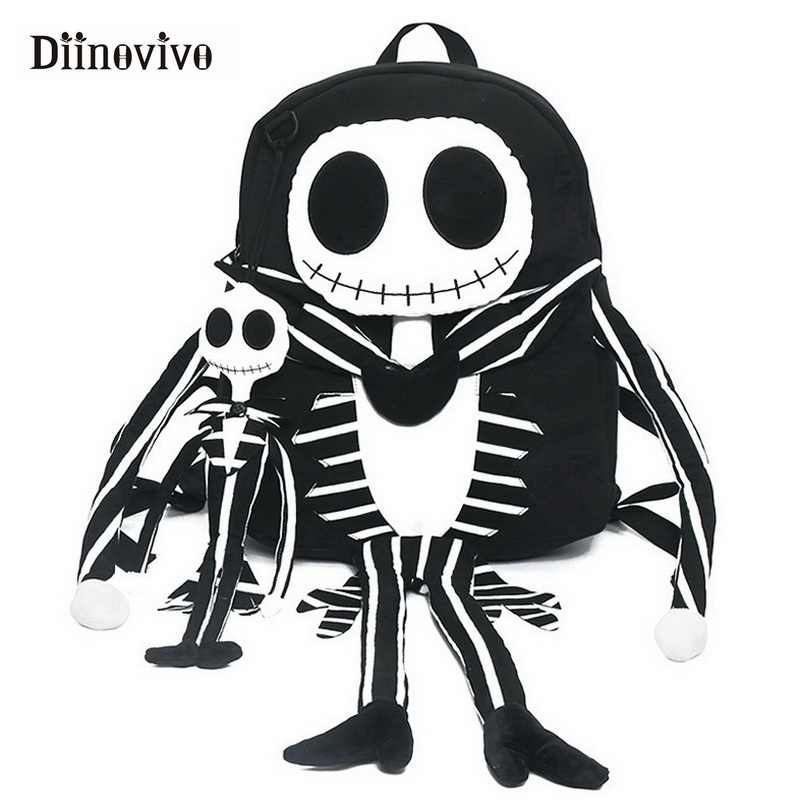 DIINOVIVO Funny Skull Women Backpack Men Special Travel Bags New Casual  School Bag Big Laptop Backpacks fc160ec840824