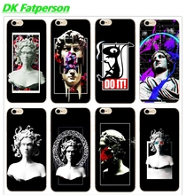 DK Medusa Vaporwave Glitch Art fashion perfect phone case Cover Hard Transparen for iPhone 6 6s 7 8plus 5s 5c 4s X XS XR XSMAX