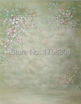 Thin Vinyl Photography Background  Computer Printed flowers  Painting Photography backdrops for Photo studio  CM-3775