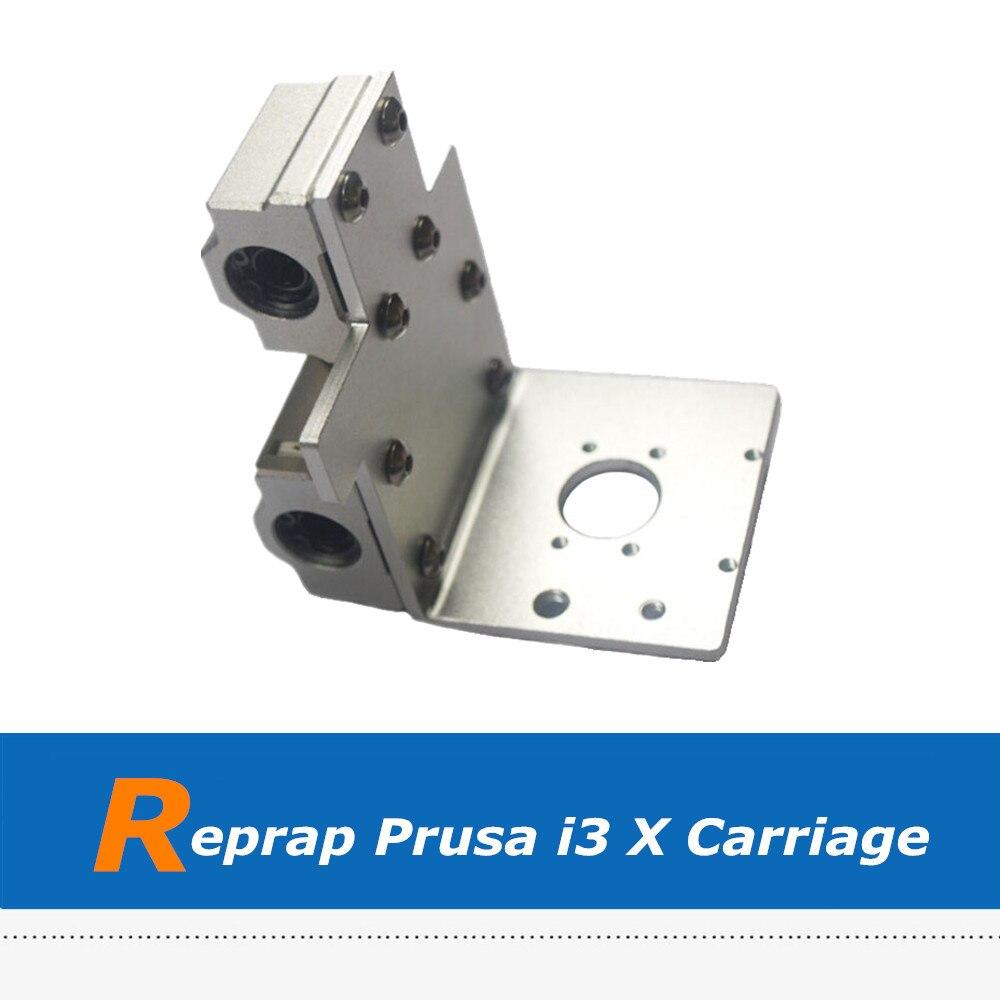 Reprap Prusa i3 3D pièces d'imprimante en alliage d'aluminium axe X tête d'impression X chariot d'exturder en métal