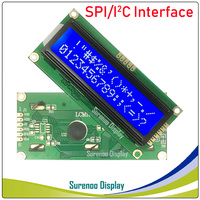 Standard SPI I2C Serial 1602 162 16*2 Character LCD Module Display LCM Screen. White Characters on Blue Background