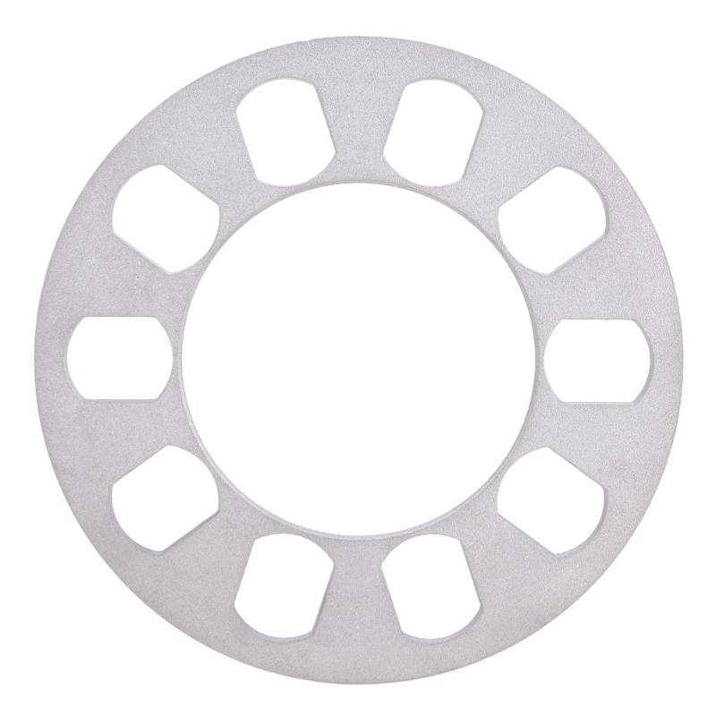 1Pcs 8mm Universal Aluminum Alloy Silver 5 Hole Car Auto Aluminum Alloy Wheel Spacer Gasket 8mm0.31'' Wheel Spacer 5 Hole 8mm