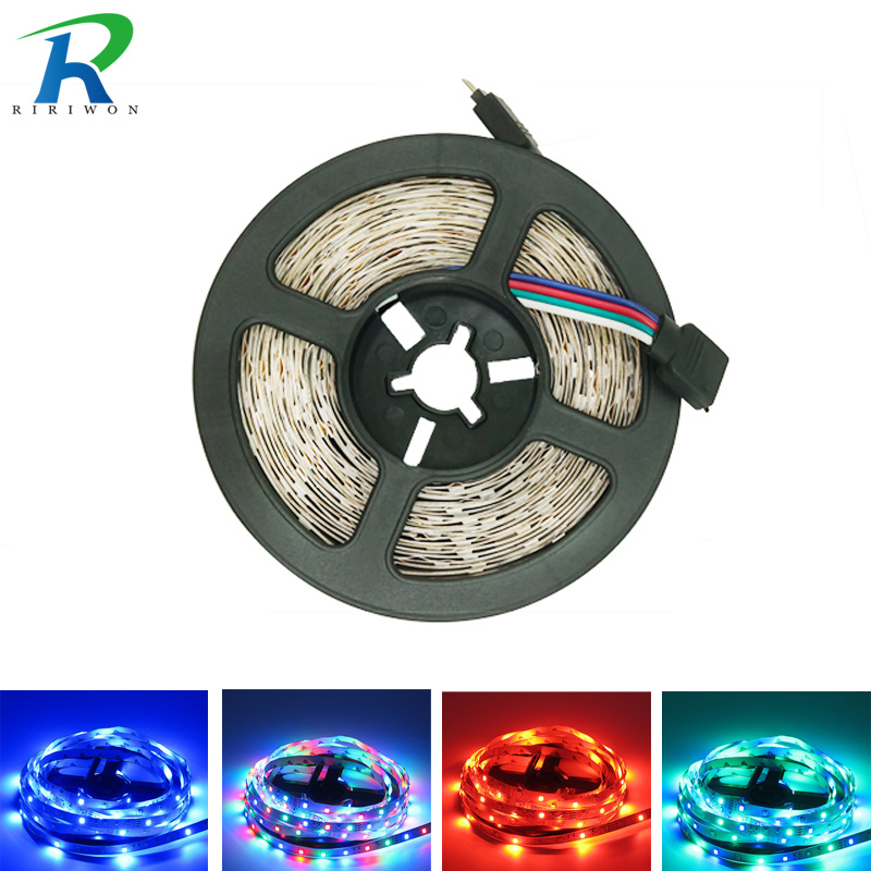 цена на 5M rgb Led strip light Led rgb Flexible light strip Led tape 2835 smd DC 12V Non Waterproof for Decoration