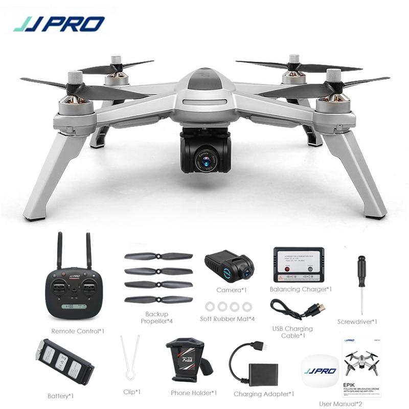 Cadeaux gratuits! JJRC JJPRO X5 5g GPS WIFI FPV Avec 1080 p HD Caméra Max 18 Minutes Suivez-moi Maintien D'altitude RC Drone Quadcopter RTF