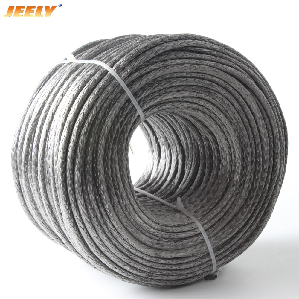 JEELY Best Quality 3mm 300M 12 Weaves 2000lbs Towing Winch Rope Spectra цены