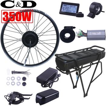 XF 15F 15R silnik MXUS marka 350W 36V 48V 52V 34AH ebike zestaw do konwersji roweru elektrycznego stojak na baterie litowe wyświetlacz LCD tanie i dobre opinie chamrider 21-30ah Lithium Battery