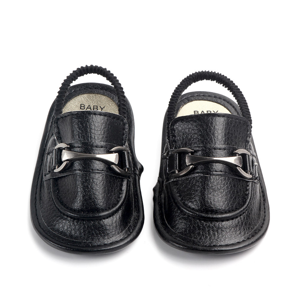 Baby Children's Slippers Boys PU Leather Waterproof Baby Slippers Non-slip Home Shoes Sandals Learning To Walk XZ29