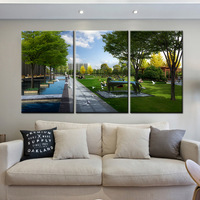 Limited Promotion 3 Pieces Sets Canvas Art Canvas Paintings 3 Panel HD Park Scenery Nordic Decorations