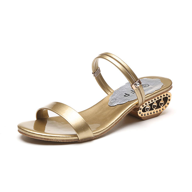 Gold Silver Gladiator female Sandals 2017 Summer Beach Flip Flops Platform Flat Shoes Woman Slip On Wedges women sandal shoes women sandals 2017 summer shoes woman wedges fashion gladiator platform female slides ladies casual shoes flat comfortable