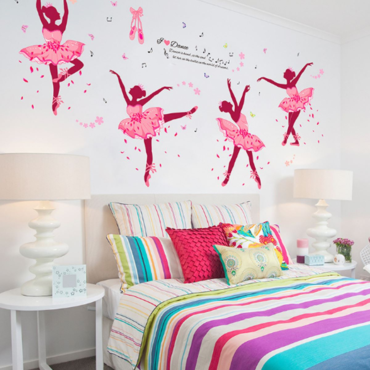 ballet girls arte pegatinas de pared decoracin de diy para los nios decoracin pared de