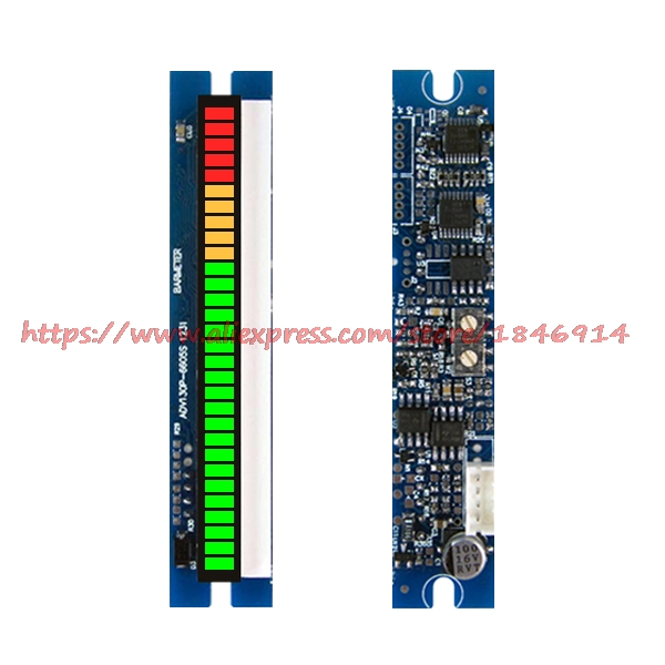The 30 section 66mm LED bar display PPM table module / volume / audio level meter indicator indicatorThe 30 section 66mm LED bar display PPM table module / volume / audio level meter indicator indicator