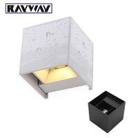 أبيض/أسود وتسقط 7 واط led الجدار مصباح ip65 ماء للتعديل شنت السطح الداخلي والخارجي مكعب أدى الجدار أضواء