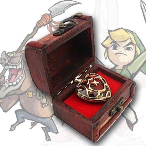 Подвеска и брелок в форме сердца Легенда о Зельде в подарочной коробке