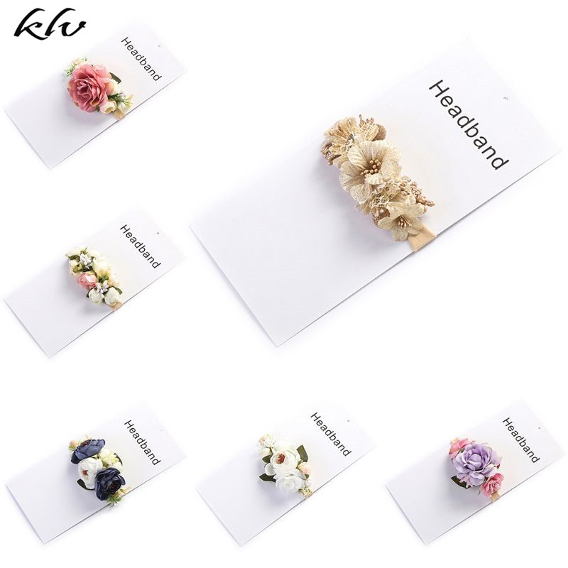 Newborn Photography Props Baby Headdress Summer Bohemian Holiday Simulation Flower Hair Band Super Soft Headwear Hairband