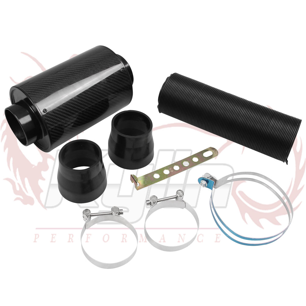 Prix pour KYLIN MAGASIN-Universal Racing Filtre À Air Boîte En Fiber De Carbone D'alimentation À Froid Induction Kit Kit D'admission D'air Sans Ventilateur