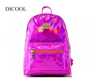 DICOOL 2019 Hotselling Holographic Backpack For School Student Women's Laser Silver Color Hologram One Shoulder Bag