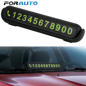 Luminous Telephone Number Card Hidden Number Plate Universal With Fragrance Tank Auto Accessories Car Temporary Parking Card