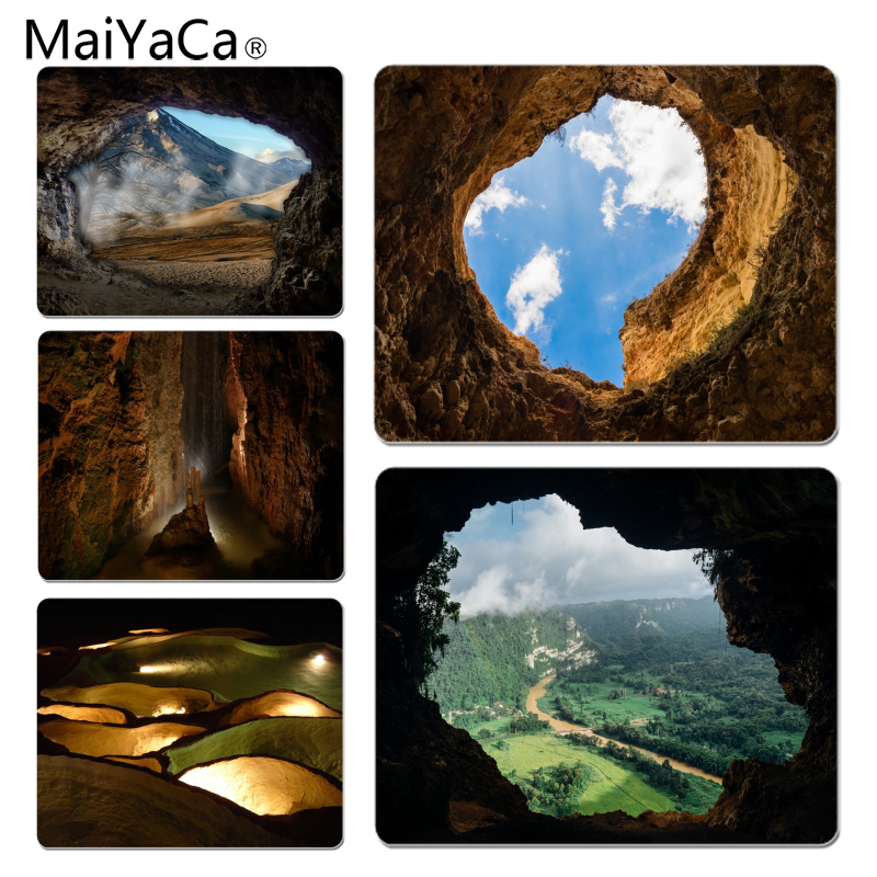 MaiYaCa Vintage Cool Stalactite Cave Customized laptop Gaming mouse pad Size for 180x220x2mm and 250x290x2mm Rubber Mousemats