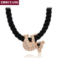ZYN227 Koala Crystal 18K Rose Gold Pated Pendant Necklace Jewelry Austrian Crystal SWA Elements Wholesale