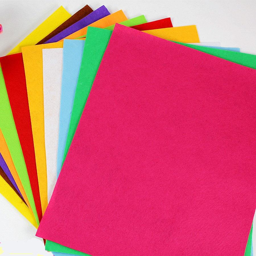 Nem szőtt textíliák 50CMX40CM Filcszövet, poliészter, nem szőtt filc, 1 mm vastag, kézzel készített anyag Óvoda kreatív DIY anyagok