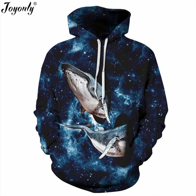 Joyonly Space Galaxy 3d Sweatshirts New 2018 Women Men Hoodies With Hat Print Animal Shark Universe Black Hole Hooded Hoody Tops