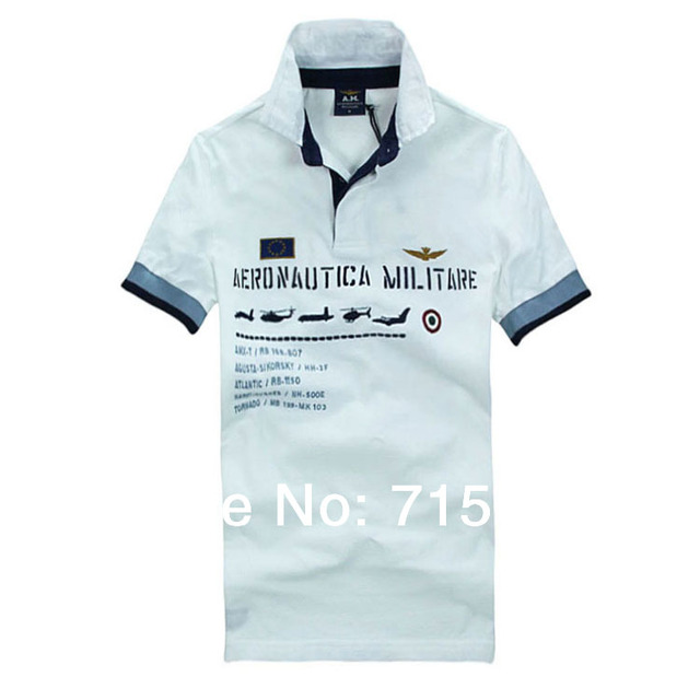 RETAIL AERONAUTICA MILITARE Men's Polo man Air Force One Embroidered man shirts Free Shipping