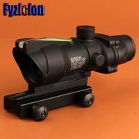 Hunting ACOG 4X32 SCOPE Fiber Source Red Green Illuminated Scope Black Tan Color Tactical Riflescope