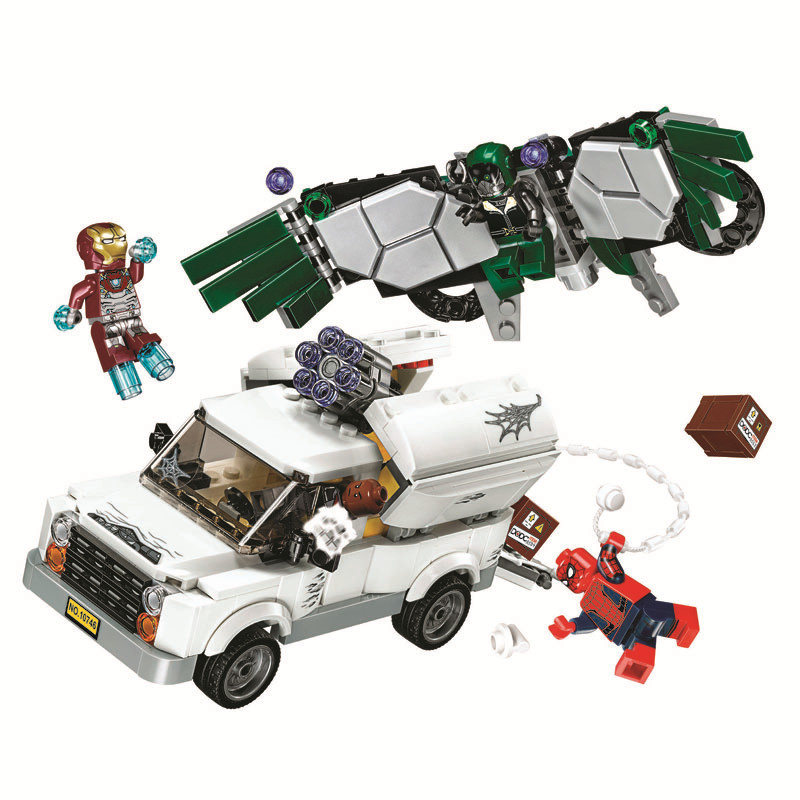 DC Comics Justice League 10746 Super Heroes Building Blocks Bricks Toys Marvel Spider-man Homecoming Gifts Bela Compatible Legoe цена