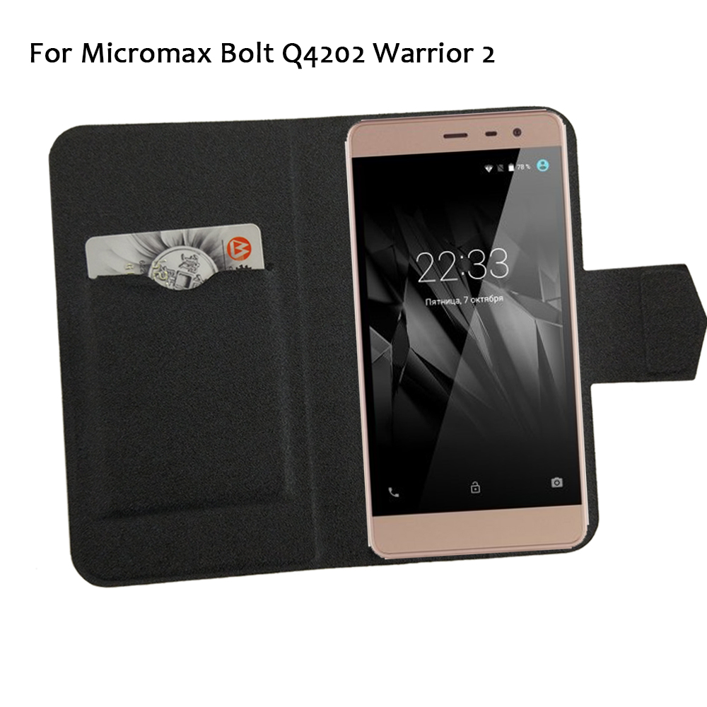 5 Colors Hot! Micromax Bolt Q4202 Warrior 2 Phone Case Leather Cover,Factory Direct Luxury Full Flip Stand Leather Phone Cases