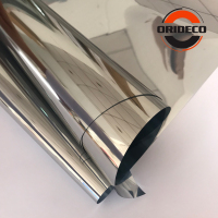 1.52*30/50M Mirror Silver Solar Window Film Insulation UV Reflective One Way Privacy Car Home Office Decoration