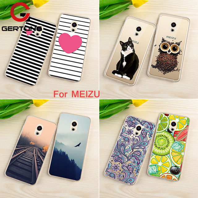 GerTong Soft Silicone TPU Cover Case For Meizu M6 Note M3 M5 Note M3S Mini M5S 5S M5C M6S S6 6S Pattern Cat Phone Back Case